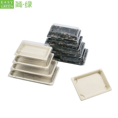 Biodegradable Recycled Paper B Sushi Pulp Tray For Foagasseod