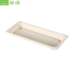 Biodegradable Sushi Food Trays With Lid Food Divided Container