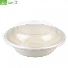 Bagasse 32oz Biodegradable Salad Bowl For Instant Noodles Food Containers Disposable