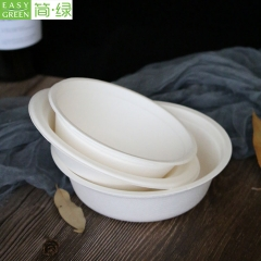 350ml Paper Pulp Bagasse Soup Food Bowl Disposable For Eco-friendly Packaging