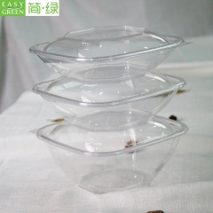 Large Disposable Plastic PLA Salad Bowl For Fruit/Vegetables