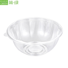 HS-02 Eco Friendly Disposable Packaging Fruit Salad And Vegetable Storage Container Boxes With Dome Lid