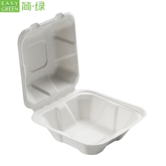 Biodegradable Bagasse Clamshell Hamburger Food Containers Box