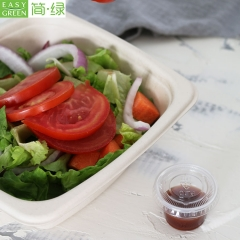 Biodegradable 16oz Bowls With Lid For Disposable Food Packaging Rice
