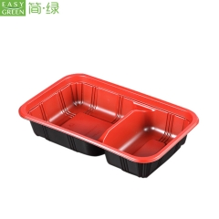 Plastic Disposable Compartment Lunch Box Container Made For Microwave Material