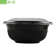 Black 550ml PP Round Container With Lids For Manufacturer