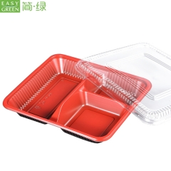 PP Disposable 3-Compartment Food Container For Food