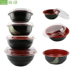 1400ml Microwave Safe PP Plastic Bowls Container With Lids