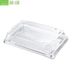 Clear Sushi Container Takeaway Pet Plastic Tray Disposable