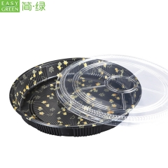 HP-65 Disposable Plastic Snack Packing Tray With Lid For Sushi