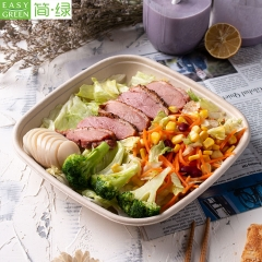 Disposable Biodegradable Microwave Takeaway Food Container