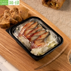 J-8507 Food Sushi Container Bento Box Lunchbox For Disposable Plastic