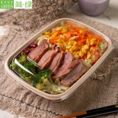 Eco Friendly Paper Disposable Bento Box For Narutral Pulp