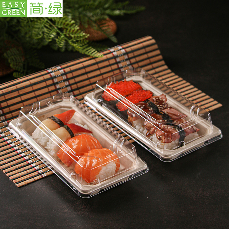 Disposable Container Packaging Boxes With Plastic Lid For Sushi