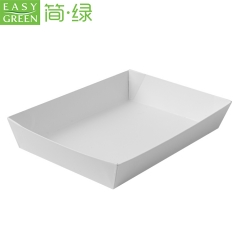 Easy green Healthy material baking food packaging kraft paper trays with lid